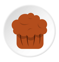 Chocolate muffin icon circle vector