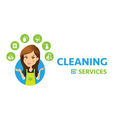 cleaning services vector image