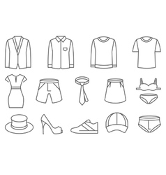 Clothes line icons set vector