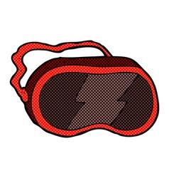 comic cartoon goggles vector image