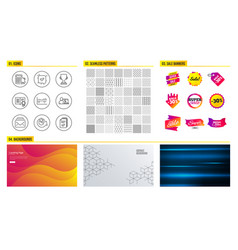 Confirmed column diagram and mail icons vector