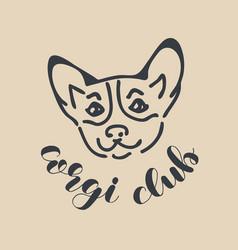 Corgi club badge banner of logo design template vector