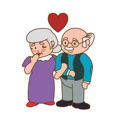 Couple elder adults love vector