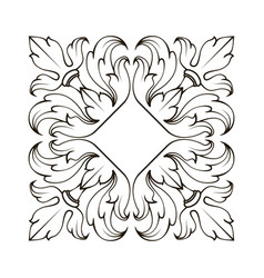 decorative ornament with lily flower page vector image