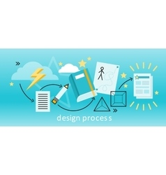 Design Process Concept vector