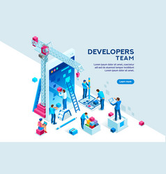 device content place isometric vector image