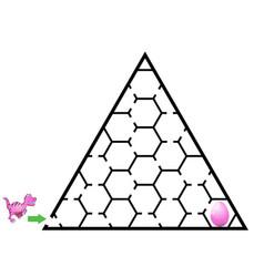 dinosaur mazes for kids maze games worksheet for vector image