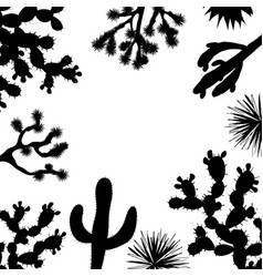exotic wildflower cactus frame saguaro prickly vector image