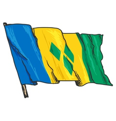 flag of Saint Vincent and Grenadines vector image