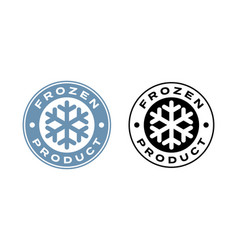 Frozen product food package label fresh frozen vector