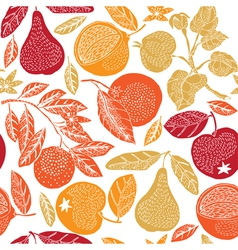 Fruit season print vector