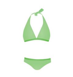 green swim suit vector image