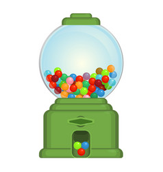 Gumball machine toy or commercial device which vector