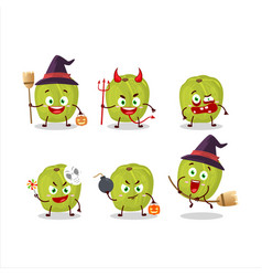 Halloween expression with cartoon amla vector