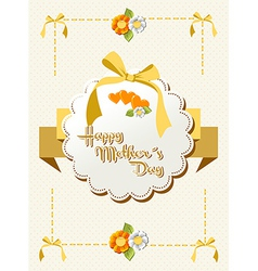 Happy Mothers Day ribbon background vector image