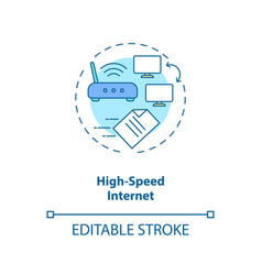 High speed internet concept icon vector