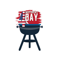 Isolated american independence day emblem vector