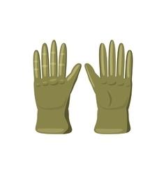 Khaki colored gloves icon cartoon style vector image