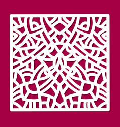 laser cut ornament square panel cutout pattern vector image