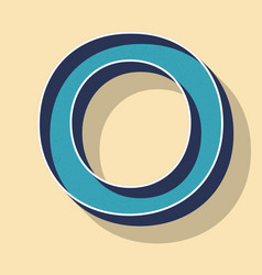 Letter o retro text style fonts concept vector