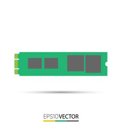 M2 Solid State Drive SSD vector image