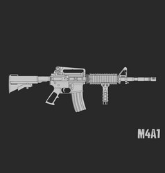 m4a1 flat vector image