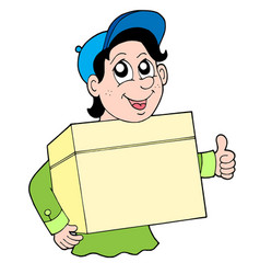 man with box vector image