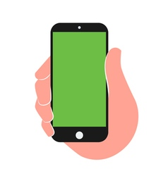 Mobile in a hand vector image vector image