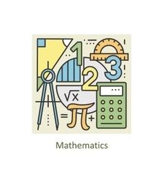 Modern color thin line concept mathematics vector
