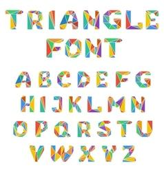 Mosaic triangular alphabet vector