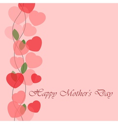Mothers Day greeting card with hearts vector image
