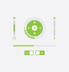Music player control interfrace 3 vector