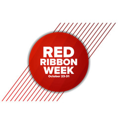 National red ribbon week october 23-31 holiday vector