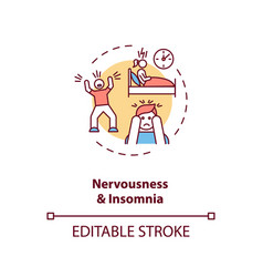 Nervousness and insomnia concept icon vector