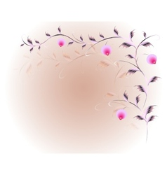 Pattern in the form of branches with berries vector image