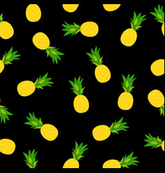 Pineapple natural seamless pattern backgroun vector