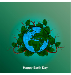 Poster happy earth day 22 april 2018 vector