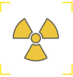 Radiation sign color icon vector