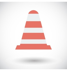 Road Cone single icon vector image