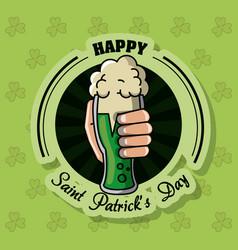 saint patricks day beer card vector image