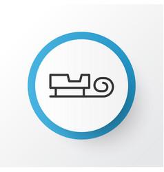 santa sleigh icon symbol premium quality isolated vector image