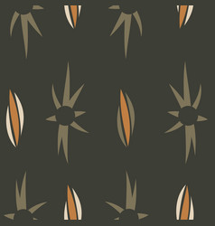 seamless texture with floral background vintage vector image