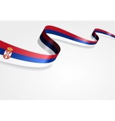 Serbian flag background vector