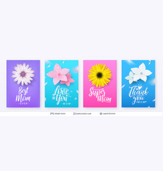 set banner templates for mother day vector image