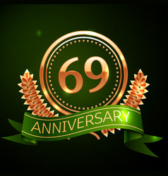 sixty nine years anniversary celebration design vector image