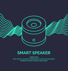 Smart speaker for the control and management of vector