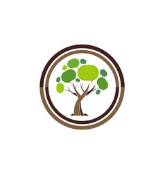 social tree abstract logo icon vector image