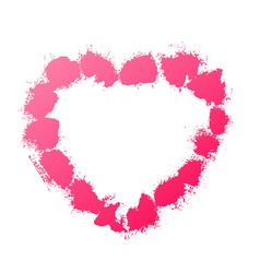 splash stains texture heart pink abstract spray vector image