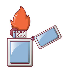 steel lighter icon cartoon style vector image