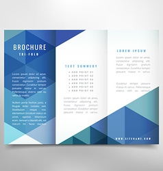 Stylish trifold brochure vector